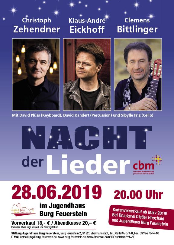 Nacht der Lieder am 28.06.2019 auf Burg Feuerstein